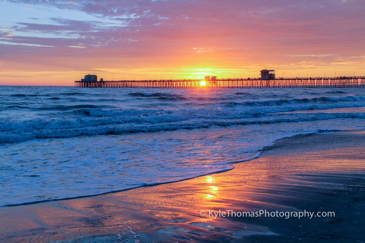 Oceanside-Pier-Sunset-Pink-Orange-Red-Kyle-Thomas-Photography