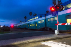 Cardiff-CA-Encinitas-Coaster-Train-Night-Kyle-Thomas