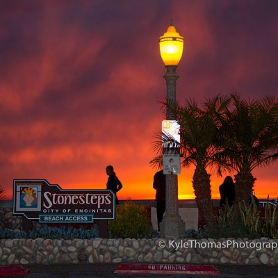 Stonesteps-Beach-Encinitas-CA-Sunset