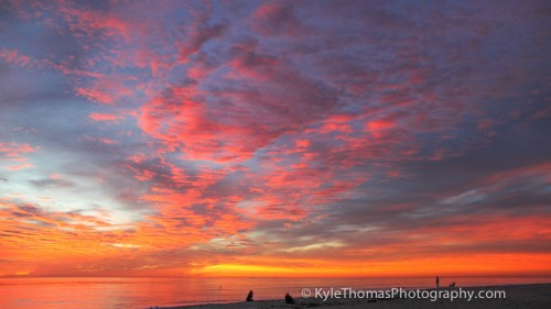 Carlsbad-Ca-Sunset-Pink-Red-Orange-Kyle-Thomas-Photography