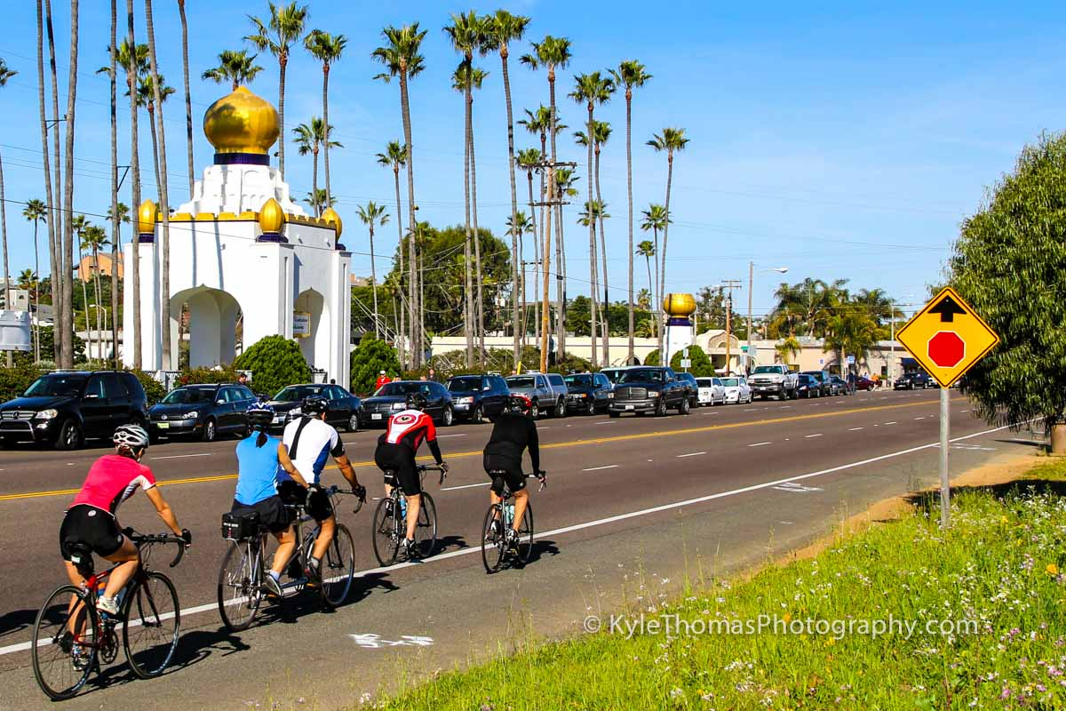 Bicyclists-Bicycles-Bicycling-Coast-Hwy-101-Encinitas-CA