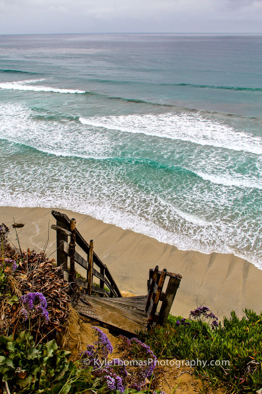 Old-Wooden-Beach-Stairs-Encinitas-Ca