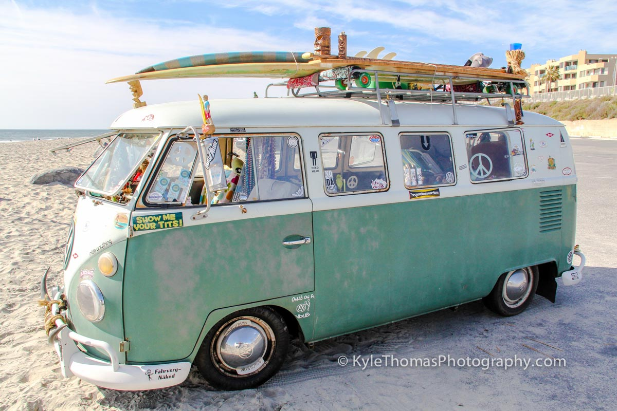 VW-Surf-Van-Carlsbad-CA-Beach-Kyle-Thomas-Photography