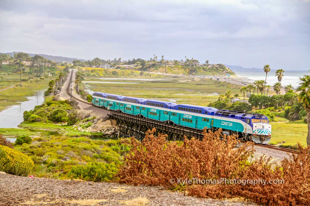 San-Elijo-Lagoon-Coaster-Train-Cardiff-Encinitas-CA-Kyle-Thomas-Photogaphy