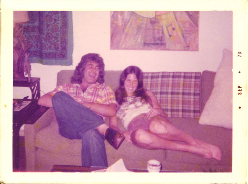 Darreld & Rosalee-1973. First picture taken of them together the day they met.