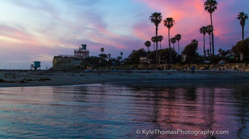 Cardiff-CA-Rivermouth-Sunset-Kyle-Thomas-Photography