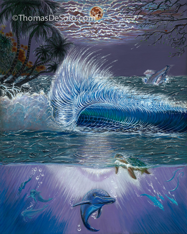 Seven-Dolphins_Original-Oil-Painting-Thomas-DeSoto