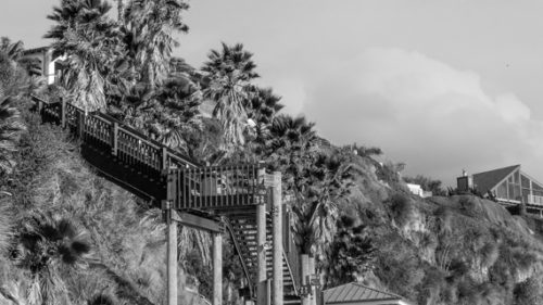 Swamia-Beach-Stairs-Encinitas-Ca-Closeup_BW-2