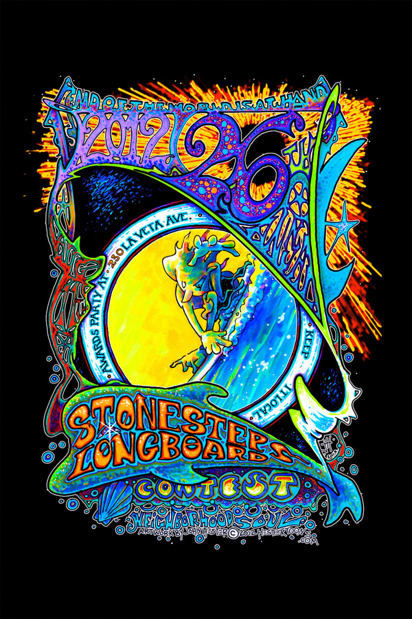 John-Hester-Poster-Art-2012-26th-Annual-Stonesteps-Surfing Contest-Encinitas-CA