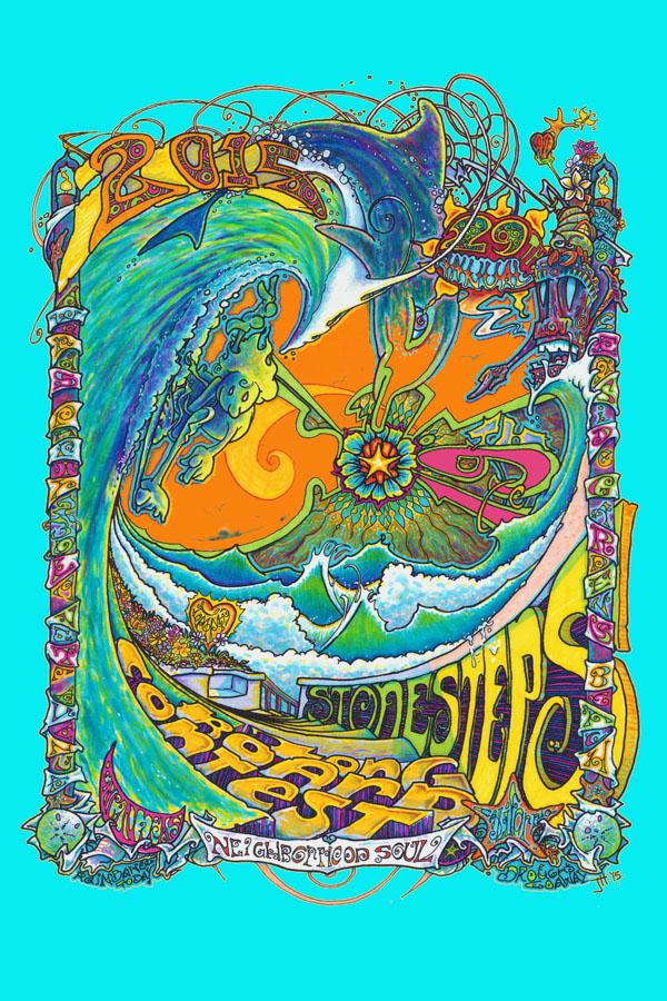 2015-29th-Annual-Stonesteps-Surfing-Contest-Poster-Artist-John-Hester