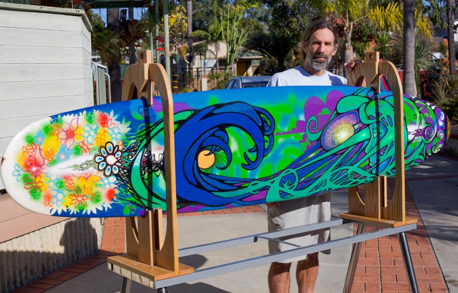 Stonesteps-Surfing-Contest,Encinitas,Artist-John-Hester,Surfboard,