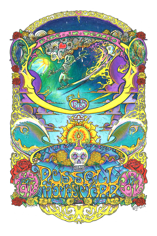 Artist-John-Hester-Ride-in Peace-Russel-Thomas-Marr-Memorial-Poster-Art